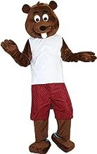 Castor Fiber Beaver Mascot Costume Cartoon Character Adult Sz Real Picture