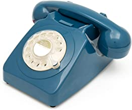 $26 » GPO 746 Rotary 1970s-style Retro Landline Phone - Curly Cord, Authentic Bell Ring (Renewed)