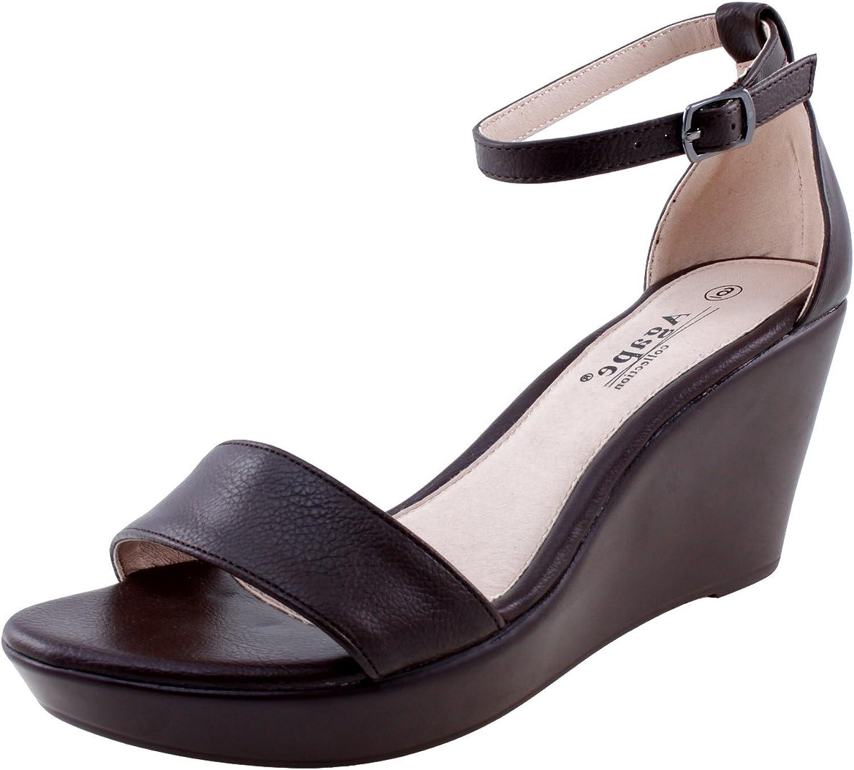Agape Pamela-22 Ankle Strap Wedge Sandal