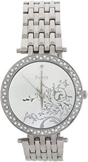 Sunex Women's Silver Dial Stainless Steel Band Watch, S6392SW