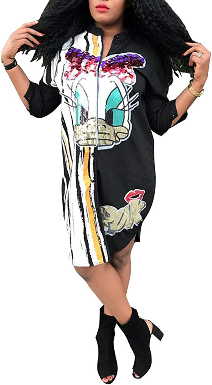 Remxi Women Graffiti Weekly update Superlatite Puff Sleeve Party T-Shirt Club Mini Loose D