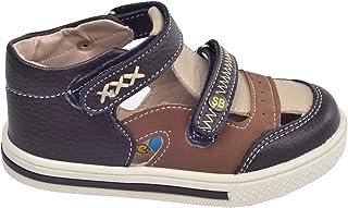 Kiko Şb 2244-49 Ortopedik Erkek Çocuk Bebe Ayakkabı Sandalet Kahverengi