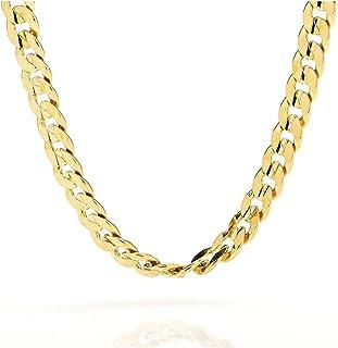 Cadena de oro de 18 quilates de 9 mm - Cadena cubana de corte suave hecha en Estados Unidos
