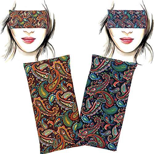 Almohada para los ojos 'Pack-2 Param' | Semillas de Lavanda y arroz | Yoga, Meditación, Relajación, descanso de ojos...