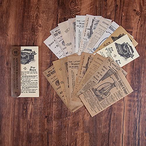 Morantsale 60 hojas retro librería serie vintage periódico material papel diario diario...