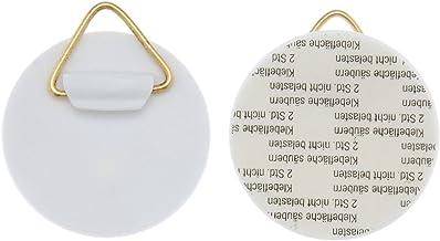 Glorex 6 1716 700 - wandplaathouder, zelfklevend, ca. 40 mm, 4 stuks, draagkracht elk ca. 500 g, voor het eenvoudig ophang...
