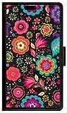 BeCool Funda Libro para Motorola Moto Z Force 2017- Carcasa con función Soporte, Ranuras para tarjetes y Billetes, Diseño Flores Multicolor