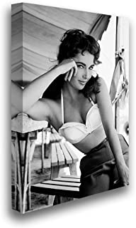 Christmas Sweater for women Elizabeth Taylor Canvas Decor Taylor Portrait Photo Modern Wall Decor Black and White Vintage Picture Hollywood Movie Poster Art 24