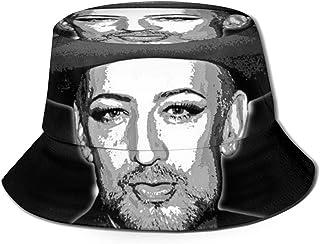 JHGFG Hombres y Mujeres Gorras Generales Algodón Sombrero de Pescador Niño George Sombrero de Moda Gorra de Cubo Negro