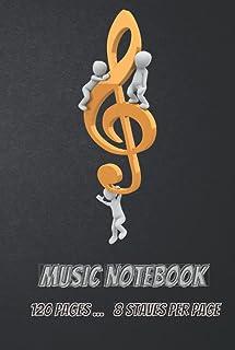 Music Notebook - Standard Music Manuscript Paper: Music Writing Notebook For Kids | Blank Sheet Music Notebook | Wide Staf...