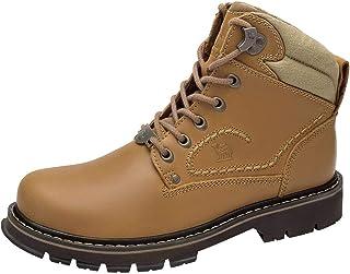 CAMEL CROWN Hombre Botas Chelsea de Cuero Zapatos para Hombre Botas Militares de Adulto