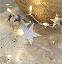 Ivory House LED Garland with Stars