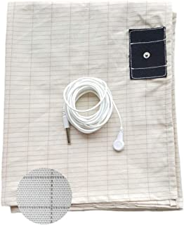 """Grounding Sheet King Size with Cord(76""""x80""""), Conductive Mat with Pure Silver Fiber for Grounding, Reduced EMF, Better Sle..."""