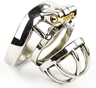 HZB toys Stainless Steel Anti-Off/Belt Arc Clasp for Male Chastity Lock Fun Toy T-Shirt Trousers