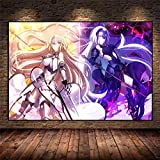 Avdgfr HD Printed on Canvas-[Anime Destiny Girl] Canvas Prints for Bedroom-Art Pictures For Wall Suitable For Living Room, Bedroom, Office 60X80cm Frameless