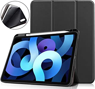 iPad Air4 ケース MaKstu 高級PUレザー iPad Air 4 ケース 2020 軽量 薄型 iPad 10.9インチ カバー 耐衝撃 傷つけ防止 ペンホルダー付き 三つ折スタンド マグネット式手帳型 iPad Air 4 /i...