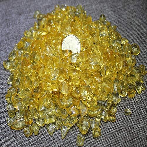 Gravel kiezelsteen Stonesopaal Glas Zand stenen rotsen Glas voor Aquarium Decoratieve Vistank Yard size Geel