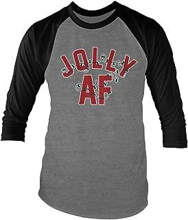 Jolly AF Christmas Unisex Adult Raglan T-Shirt