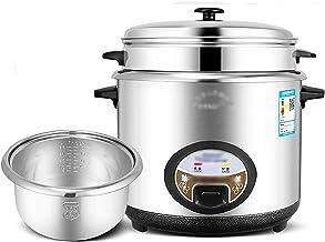 Rijstkoker met Steamer (6/7L) 304 RVS Inner Pot, Intelligente Isolatie, Maak Rijst & Stoom Gezond Voeding & Groenten (Maa...