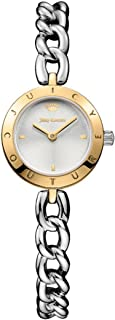 Juicy Couture Women's Pacifica Quartz Watch with Stainless-Steel Strap, Two Tone, 8 (Model: 1901511)