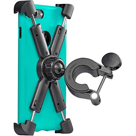 Motorcycle, Bicycle, & Scooter Phone Mount - Reliable Handlebar Phone Holder for Any Smartphone (iPhone 11, Galaxy S20) - Makes Your Bike Rides Safer