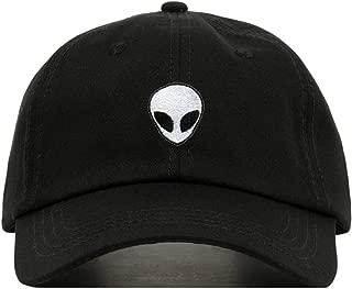 Alien Baseball Hat, Embroidered Dad Cap, Unstructured Soft Cotton, Adjustable Strap Back (Multiple Colors)