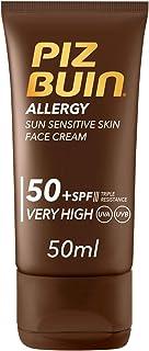 Piz Buin Allergy Protector Solar Facial SPF 50+ Protección Muy Alta para Pieles Sensibles al Sol 50 ml