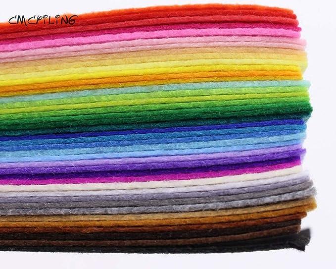 Xuccus CMCYILING 40 Mix Colors 1mm Hard Felt Sheets Felt Craft for Felt DIY Craft Arts,Crafts & Sewing Scrapbook Hometextile - (Size: 20cm X 20cm)