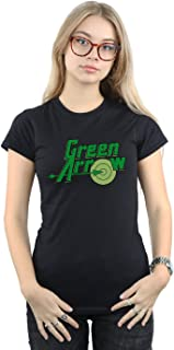Women's Green Arrow Text Logo T-Shirt