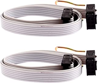 Uxcell IDC Connector Flat Ribbon Cable F/F 6 Pins, 2.54 mm Pitch, 20