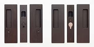 Cavilock CL400D0255 Magnetic Latching Double Cylinder Double Door Pocket Door Set for 1-3/8 Inch Door Thickness