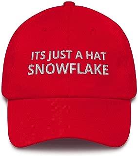 Its Just a Hat Snowflake Cap - Funny Red Trump MAGA Hat Republican USA Dad Cap