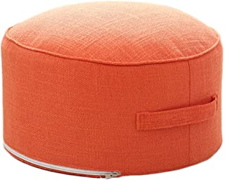 idee-home Pouf Ottoman for Small Space | Pouffe Footstool for Adults with Handle, for Living Room, Bedroom, Patio, Removable Cover for Easy Care