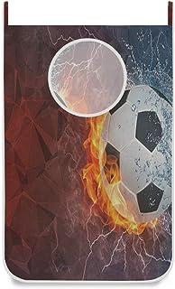 Sac de panier à linge suspendu Ballon de football sportif sur porte coupe-feu / mur / placard suspendu Grand panier de sac...