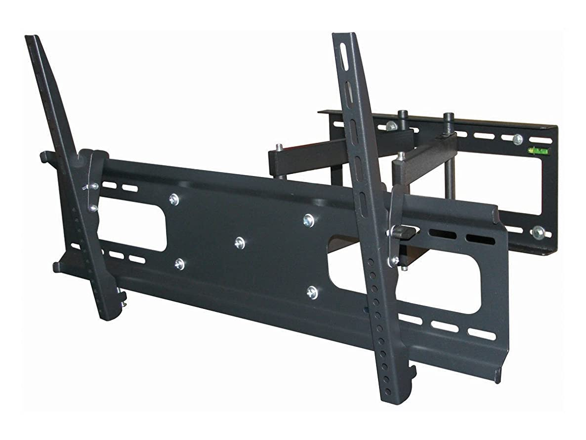 Black Full-Motion Tilt/Swivel Wall Mount Bracket for Sharp Aquos Quattron Smart TV LC-60LE832U 60