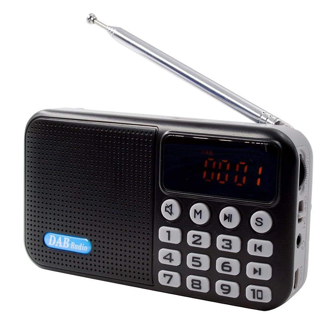 地域三番堂々たるポケットラジオ 高感度 デジタル 小型 FMラジオ LEDライト アンテナ スピーカー付き USBメモリ マイクロSDカード 最大32G