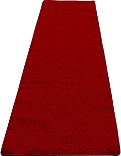 Mybecca Persian RED Carpet Aisle Runner High Class VIP Quality for Parties & Hollywood-Feel Events, 2 x 10 ft (1ft.8 x 10 ft) Wedding and Ceremony Color: Dark Red
