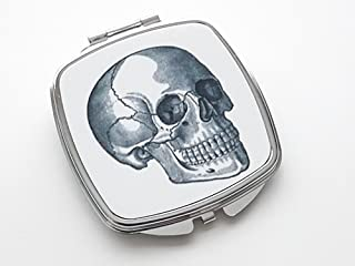 Human Skull Compact Mirror Anatomy Nurse Doctor Medical Student Goth Graduation Gift