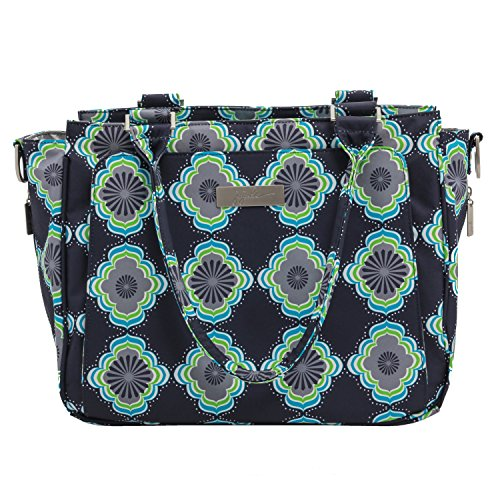 JuJuBe Be Classy Structured Multi-Functional Diaper Bag/Purse, Classic Collection - Moon Beam