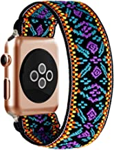 BMBEAR Stretchy Strap Loop Compatible with Apple Watch Band 38mm 40mm iWatch Series 5/4/3/2/1 Boho Blue