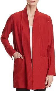Eileen Fisher Womens Kimono Open Front Layering Jacket