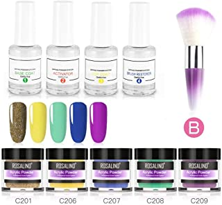 10pack Dip Powder Set for Nail Art, Hamkaw New Arrival Dipping Nail Powder - an Alternative to Traditional Nail Polish, Without Lamp Cure and Easy to Apply