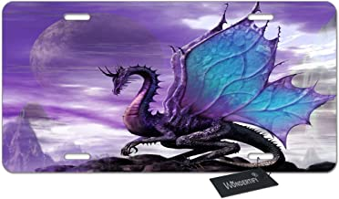 WONDERTIFY License Plate Dragon Fly on The Mountain Pattern Decorative Car Front License Plate,Vanity Tag,Metal Car Plate,Aluminum Novelty License Plate for Men/Women/Boy/Girls Car,6 X 12 Inch