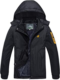 MAGCOMSEN Womens Winter Coats Warm Fleece Lined Snowboard Ski Jackets with Zipper Pockets
