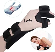 Soft Resting Hand Splint Night Wrist Splint Support Immobilizer Finger Wrist Fracture Fixation Scaffold for Stroke Hand Pain Tendinitis Sprain Fracture Arthritis Dislocation (Large, Left)