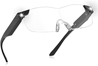 Magnifying Glasses with Light,160% Magnifying Lighted Eyeglasses,Rechargeable LED Lights,..