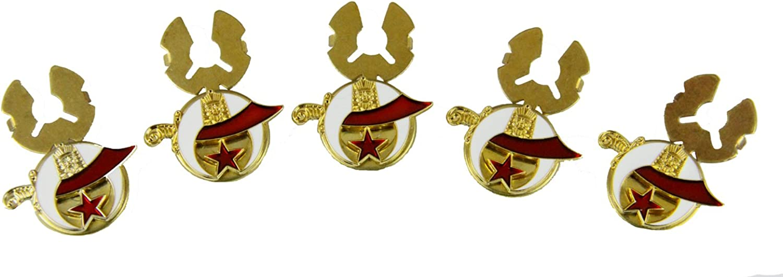6030632 Set of 5 Shrine Emblem Button Covers Scimitar Crescent Star