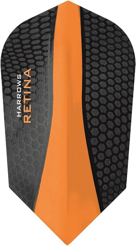 5 x SETS HARROWS RETINA orange DART FLIGHTS SLIM