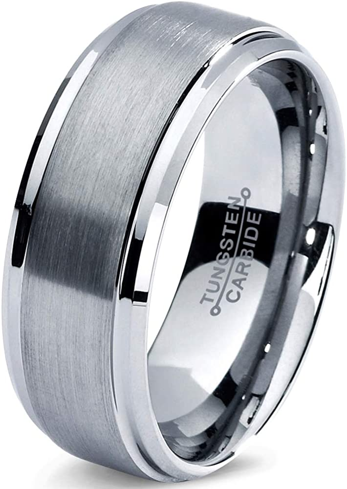 Charming Jewelers Tungsten Max 78% OFF Wedding Band Women 8mm Men Comfo Ring Ranking TOP6