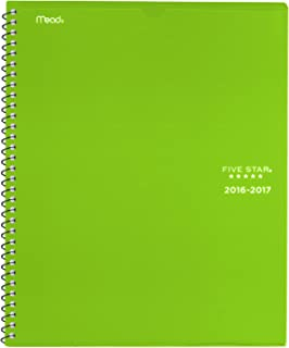 Five Star Academic Year Weekly/Monthly Planner/Appointment Book, August 2016 - July 2017, Customizable, 8-1/2